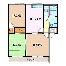 メモリアル アベニュー B棟[2階]の間取り