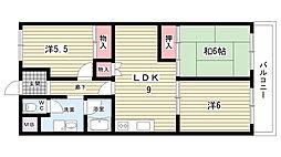 大阪府豊中市西泉丘1丁目の賃貸マンションの間取り