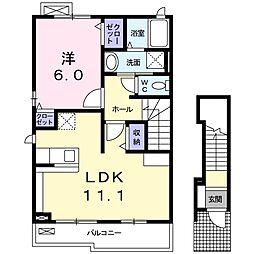 ドゥーソレイユ[2階]の間取り
