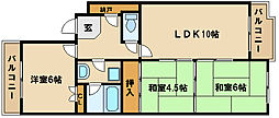 兵庫県神戸市西区今寺の賃貸マンションの間取り