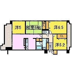 リベール姫路駅前II[6階]の間取り