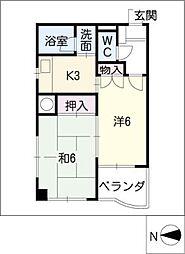 MK 平安[6階]の間取り