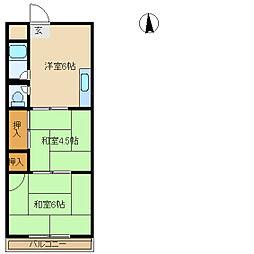 清川マンション[3階]の間取り
