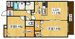 パルティール3[1階]の間取り
