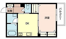 シャーメゾンプランタン(206)[2階]の間取り
