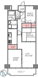 間取り(3LDK南向きバルコニー平成30年12月室内フルリフォーム済み即入居可能オシャレな家具付き)