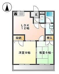 愛知県名古屋市北区喜惣治1丁目の賃貸マンションの間取り