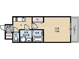 レジュールアッシュ京橋ファーストステージ[3階]の間取り