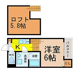 stage徳重[1階]の間取り