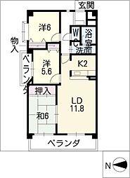 ファミーユDAISHIN[3階]の間取り