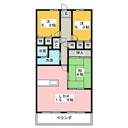 スペリア桑名弐番館 303号室[3階]の間取り