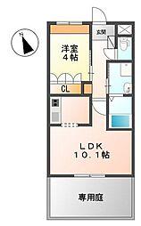 めぞん桜[1階]の間取り