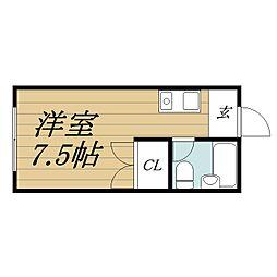 千葉県市原市大厩の賃貸アパートの間取り