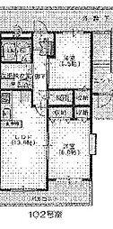 レアールM大川[A102号室]の間取り