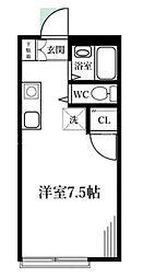 山仁ハイツ[2階]の間取り