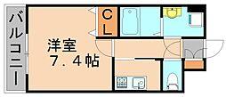 サンセール・クミ[3階]の間取り