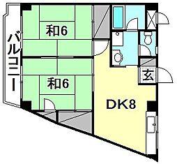 ビージョイマンション1号館[305 号室号室]の間取り