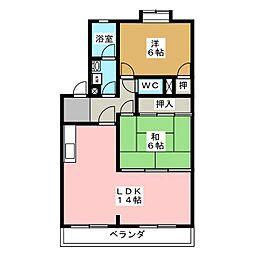 ビラ カスミ[2階]の間取り