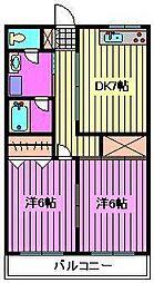 第3山崎ハイツ[3階]の間取り