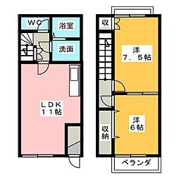 [テラスハウス] 愛知県弥富市五明町築留 の賃貸【/】の間取り