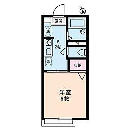 ADハイツ[2階]の間取り