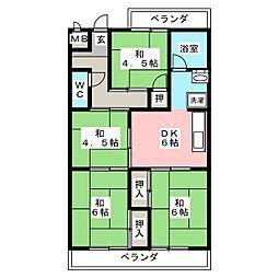 小崎ビル[4階]の間取り