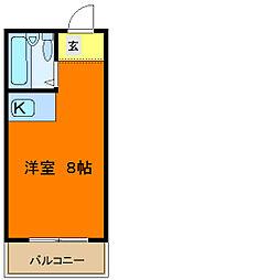 グロースハイツ菱屋西[2階]の間取り