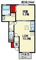 クロスロード[1階]の間取り