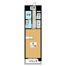リヴ・フィールド・京美[5階]の間取り