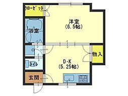 藤弥マンション[1階]の間取り