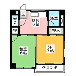 楠元マンション[3階]の間取り