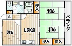 小倉南センタービル(KMCビル)[4階]の間取り
