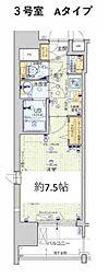 Osaka Metro堺筋線 天神橋筋六丁目駅 徒歩6分の賃貸マンション 4階1Kの間取り