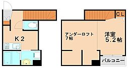 ヴィオレッタ[2階]の間取り
