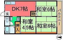 桜ビラ B棟[208号室]の間取り