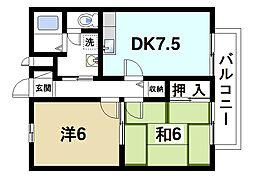 ファミール寺田[1階]の間取り