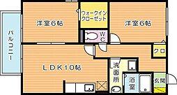 グランディール2番館[2階]の間取り