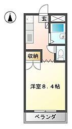 第8磯部コーポ[2階]の間取り