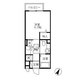 横浜市営地下鉄ブルーライン 上永谷駅 徒歩10分の賃貸アパート 1階1Kの間取り