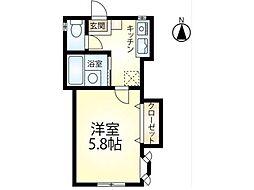エスポワールAWA[1階]の間取り