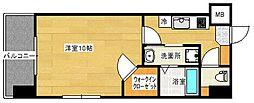 ウィステリア天神川 11階1Kの間取り