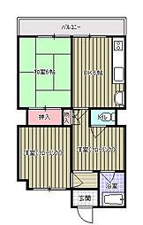 横山ビル[301号室]の間取り