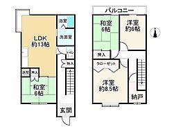 近鉄長野線 川西駅 徒歩23分 4LDKの間取り