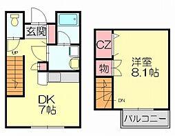 [タウンハウス] 福岡県福岡市博多区東月隈3丁目 の賃貸【/】の間取り