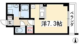 山の手ハウス 4階1Kの間取り