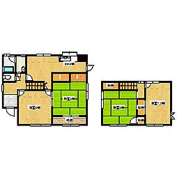 [一戸建] 岡山県赤磐市桜が丘東6丁目 の賃貸【岡山県 / 赤磐市】の間取り
