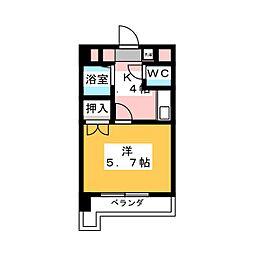セジュール栄[5階]の間取り
