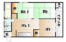 ヤスヤビル[4階]の間取り