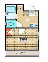 神奈川県川崎市幸区鹿島田3丁目の賃貸アパートの間取り
