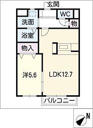 アメージングA棟[1階]の間取り